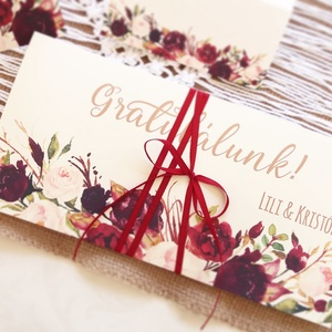 Pénzátadó boríték, pénz átadó lap, Nászajándék, Gratulálunk képeslap, Esküvői Gratuláció, pénz lap, Esküvő, Nászajándék, Meghívó, ültetőkártya, köszönőajándék, Otthon & lakás, Fotó, grafika, rajz, illusztráció, Papírművészet, Igényes Egyedi Személyre szóló Pénz Átadó Zsebes Boríték Szalaggal átkötve.\n\nAdd át nászajándékodat ..., Meska