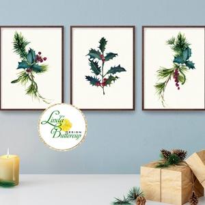 A4-es 3db kép, Vintage karácsonyi, kép, dekoráció, dekor, falikép, Adventi, fenyő, toboz, fenyőfa, botanikus, növény, Karácsonyi dekoráció, Karácsony & Mikulás, Otthon & Lakás, Fotó, grafika, rajz, illusztráció, Mindenmás, A4, Karácsonyi dekoráció, 3db Print Lap, Nyomtatás \n3 darabos szett, A4 méret\n\n* KERET NÉLKÜL! *\n\n* ..., Meska