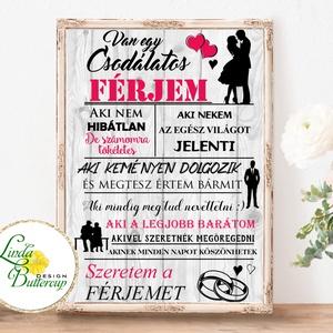Csodálatos férj falikép, Szeretem a férjemet, falikép, házassági évforduló, szülinap, névnap, ajándék, vőlegény, férj, Kép & Falikép, Dekoráció, Otthon & Lakás, Fotó, grafika, rajz, illusztráció, Papírművészet, A/4-es Papír Print Nyomtatás, \nCsodálatos férj kép\n * *KERET NÉLKÜL**\n\nVásárláskor kérlek írd meg a ..., Meska