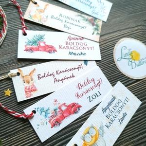 """6db, Különböző Egyedi Karácsonyi Ajándékkísérő válogatás,  névreszóló,  Adventi Kártya, kiskártya, ajándékkártya, Karácsonyi képeslap, Karácsony & Mikulás, Fotó, grafika, rajz, illusztráció, Mindenmás, 6db különböző Egyedi névreszóló Ajándékkísérő válogatás\n\nEGYEDI NÉVRESZÓLÓ : \nVásárláskor az \"""" üzene..., Meska"""