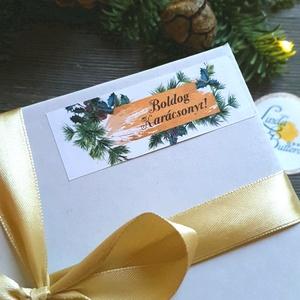 MATRICA, 14db, címke, Karácsonyi Ajándékkísérő, cédula, vignetta, levonó, sticker, cég, céges, logó, céges matrica (LindaButtercup) - Meska.hu