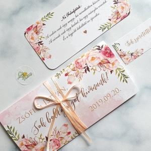Pénzátadó boríték, pénz átadó lap, Nászajándék, Gratulálunk képeslap, Esküvői Gratuláció, pénz lap, virágos, egyedi - Meska.hu