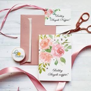 Anyák napi Képeslap, Kísérőkártyával együtt, Anyának, Anya lap, Anyák napja, virágos üdvözlőlap, Anyáknapi ajándék, AL1, Otthon & Lakás, Képeslap & Levélpapír, Papír írószer, Anyák napi Képeslap  * Kinyithatós képeslap: méret: kb. A6 * Belül üres * Papír: 250g-os művészpapír..., Meska