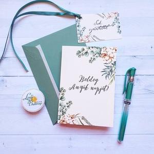 Anyák napi Képeslap, Kísérőkártyával együtt, Anyának, Anya lap, Anyák napja, virágos üdvözlőlap, Anyáknapi ajándék, AL6, Képeslap & Levélpapír, Papír írószer, Otthon & Lakás, Fotó, grafika, rajz, illusztráció, Mindenmás, Anyák napi Képeslap\n\n* Kinyithatós képeslap: méret: kb. A6\n* Belül üres\n* Papír: 250g-os művészpapír..., Meska