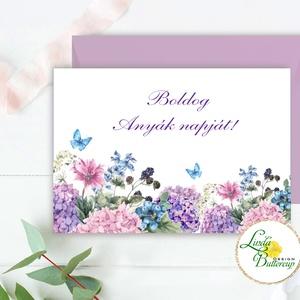 Anyák napi Képeslap, Anyának, Anya lap, Anyák napja, virágos üdvözlőlap, Anyáknapi ajándék, AL21, Otthon & Lakás, Képeslap & Levélpapír, Papír írószer, Anyák napi Képeslap  * Kinyithatós képeslap: méret: kb. A6 * Belül üres * Papír: 250g-os művészpapír..., Meska