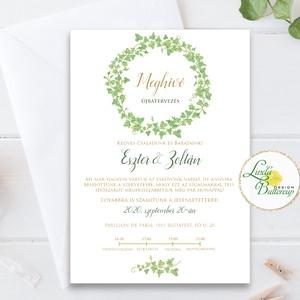 Érintésmentes digitális meghívó, őszi meghívó, esküvői meghívó, borostyán, Esküvő, Meghívó, Meghívó & Kártya, ÉRINTÉSMENTES ŐSZI MEGHÍVÓK   DIGITÁLIS MEGHÍVÓ / JPG FILE, HÁTTÉRREL EGYÜTT  hogy az új dátumotokat..., Meska