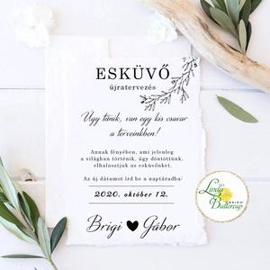 Érintésmentes digitális meghívó, őszi meghívó, esküvői meghívó,  natúr, minimál, Esküvő, Meghívó, Meghívó & Kártya, ÉRINTÉSMENTES ŐSZI MEGHÍVÓK   DIGITÁLIS MEGHÍVÓ / JPG FILE, HÁTTÉRREL EGYÜTT  hogy az új dátumotokat..., Meska