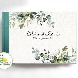 Greenery Esküvői Emlékkönyv, Vendégkönyv, Vendégkönyv, Emlék & Ajándék, Esküvő, Fotó, grafika, rajz, illusztráció, Könyvkötés, Esküvői emlékkönyv, vendégkönyv\n\nMÉRET: \nFekvő A5\nHA szükséges más méret is kérhető.\nA4-es méret ese..., Meska