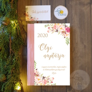 Naptár, kalendár, zsebnaptár, Egyedi naptár, könyvjelző, egyedi, Karácsonyi ajándék, névreszóló, Otthon & Lakás, Naptár & Tervező, Papír írószer, Naptár egyedi borítóval.  * Egyedi borítású Naptár: kényelmesen táskában hordozható  ( mérete: 12 x ..., Meska