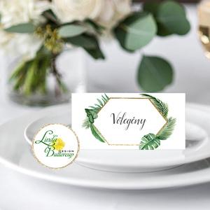 Esküvői ültető kártya, ültető, névkártya, név tábla, Esküvői dekor, dekoráció, rusztikus, letisztult, újrahasznosított (LindaButtercup) - Meska.hu
