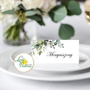 Esküvői ültető kártya, ültető, névkártya, név tábla, Esküvői dekor, dekoráció, rusztikus, letisztult, újrahasznosított, Esküvő, Ültetési rend, Meghívó & Kártya, Fotó, grafika, rajz, illusztráció, Papírművészet, Meska