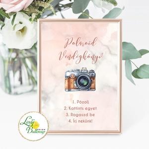 Fotó albumhoz Esküvői felirat, A4, Polaroid fotó Instrukció, selfi gép kellék, Esküvő, Esküvői dekoráció, Otthon & lakás, Dekoráció, Kép, Fotó, grafika, rajz, illusztráció, Papírművészet, A/4-es Esküvői Felirat Dekoráció, bármilyen szöveggel, keret nélkül.\n\nBármilyen feliratot kérhetsz r..., Meska