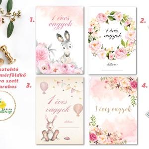 Mérföldkő kártya, baba hónap kártya, állatos, mérföldkőkártya, babakártya, fiúknak, lányoknak, Játék & Gyerek, Babalátogató ajándékcsomag, Festészet, Fotó, grafika, rajz, illusztráció, 13 darabos mérföldkő kártya szett ajándék díszcsomagolásban\n\n* Nyomtatás: 1 lapos =1 oldalas \n* Papí..., Meska
