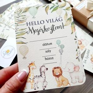 Szafari Állatos, Mérföldkő kártya, baba hónap kártya, állatos, mérföldkőkártya, babakártya, fiúknak, lányoknak, Játék & Gyerek, Babalátogató ajándékcsomag, Festészet, Fotó, grafika, rajz, illusztráció, 13 darabos mérföldkő kártya szett ajándékcsomagolásban\n\n* Nyomtatás: 1 lapos =1 oldalas \n* Papír: 25..., Meska