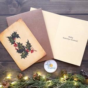 Vintage Karácsonyi Képeslap, Adventi Képeslap, Karácsonyi,  Karácsonyi üdvözlőlap, Ünnepi képeslap, személyre szóló, Karácsony & Mikulás, Karácsonyi képeslap, Fotó, grafika, rajz, illusztráció, Mindenmás, A/6-os méretű Igényes Egyedi Karácsonyi képeslap, borítékkal.\nBelül kész fix szöveggel.\n\n\n250 gsm ma..., Meska