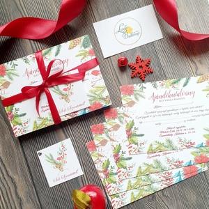 Karácsonyi Ajándékutalvány, Műkörmös, Kozmetikus, fodrász Szalon, Egyedi Tervezés, Névjegy, utalvány, , Karácsony, Karácsonyi ajándékozás, Karácsonyi képeslap, üdvözlőlap, ajándékkísérő, Fotó, grafika, rajz, illusztráció, Papírművészet, Meska