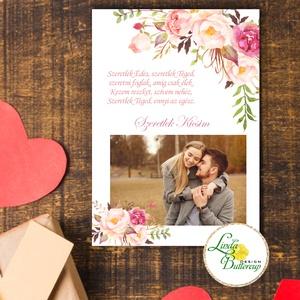 Egyedi Valentin napi képeslap saját fotóval, fényképes , Otthon & Lakás, Papír írószer, Képeslap & Levélpapír, Fotó, grafika, rajz, illusztráció, Mindenmás, Fényképes valentin napi Képeslap A5 méret \n\n* Méret: A5\n* Hátulja üres\n* Sarkok: kerekítve\n* Papír: ..., Meska