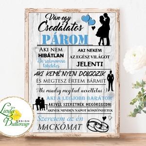 Csodálatos férj falikép, Szeretem a férjemet, falikép, házassági évforduló, szülinap, névnap, ajándék, vőlegény, férj, Otthon & Lakás, Dekoráció, Kép & Falikép, Fotó, grafika, rajz, illusztráció, Papírművészet, Meska