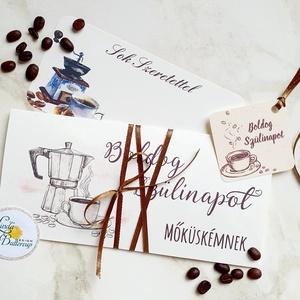 Pénzátadó boríték, Szülinapra, kávé, Gratulálunk képeslap, Esküvő, Emlék & Ajándék, Nászajándék, Fotó, grafika, rajz, illusztráció, Papírművészet, Meska