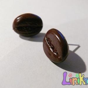 Kávébab, kávé bedugós fülbevaló (Linikreativ) - Meska.hu