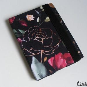 Fekete rózsa, vízhatlan ebook-tok - Meska.hu