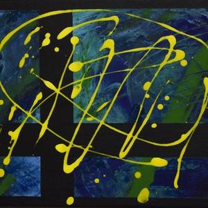 Modern absztrakt akril festmény , Művészet, Festmény, Akril, Festészet, Modern absztrakt akril festmény, feszített vásznon, szignóval ellátott.\nMéret: 30x40 cm\nBudapesten a..., Meska