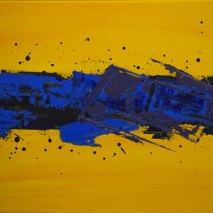 Modern absztrakt akril festmény , Művészet, Festmény, Akril, Festészet, Modern absztrakt akril festmény, feszített vásznon, szignóval ellátva.\nMéret: 30x40 cm\nBudapesten a ..., Meska