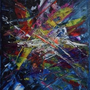 Modern absztrakt akril festmény , Művészet, Festmény, Akril, Festészet, Modern absztrakt akril festmény, feszített vásznon, szignóval ellátva.\nMéret: 20x30 cm\nBudapesten a ..., Meska