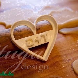 Monomgrammos sütemény kiszúró pároknak, Esküvő, Szerelmeseknek, Ünnepi dekoráció, Dekoráció, Otthon & lakás, Fotó, grafika, rajz, illusztráció, Mindenmás, Esküvőre, eljegyzésre vagy házassági évfordulóra készültök? Legyen a Nagy Nap még emlékezetesebb saj..., Meska
