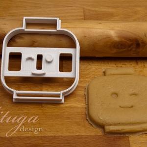 Legofej  sütemény kiszúró forma - Kacsintó, Sütikiszúró, Konyhafelszerelés, Otthon & Lakás, Fotó, grafika, rajz, illusztráció, Mindenmás, Kacsintó Legofigura fejet formázó sütemény kiszúró / szaggató forma. Gyermek szülinapi zsúrokra ideá..., Meska