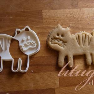 Tigris süteménykiszúró, Konyhafelszerelés, Otthon & lakás, Gyerek & játék, Mindenmás, Mézeskalácssütés, Állatkás sorozatunk következő tagja: tigrist formázó sütemény kiszúrót / szaggatót készítettünk, ara..., Meska
