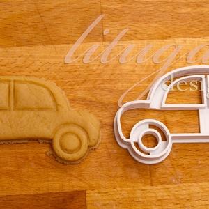 Autó süteménykiszúró forma - Járművek, Autó, Kocsi, kisautó, Sütikiszúró, Konyhafelszerelés, Otthon & Lakás, Mindenmás, Mézeskalácssütés, Egy kis autót formázó sütemény kiszúró / szaggató forma. Gyermek szülinapi zsúrokra ideális, vagy cs..., Meska