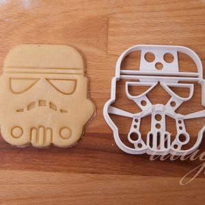 Star Wars - Stormtrooper alakú sütemény kiszúró forma, Otthon & Lakás, Stormtooper süteménykiszúró    Kb. 8cm x 8cm.    A siker érdekében fontos, hogy kevésbé puffadó tész..., Meska