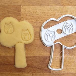 """Fa sütemény kiszúró forma 2 - Baglyos, bagoly, baglyokkal, Sütikiszúró, Konyhafelszerelés, Otthon & Lakás, Fotó, grafika, rajz, illusztráció, Mindenmás, \""""Két kis madár ül a fán...\"""" Pontosabban két kis bagoly.\n\nFát formázó sütemény kiszúró / szaggató for..., Meska"""