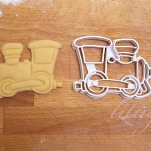 Vonatos sütemény kiszúró forma - Járművek, vonat, mozdony, Konyhafelszerelés, Otthon & lakás, Gyerek & játék, Fotó, grafika, rajz, illusztráció, Mindenmás, Járműves sorozatunk következő tagja: vonatmozdonyt formázó sütemény kiszúró / szaggató forma. \n\nGyer..., Meska