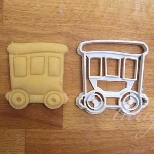 Vonatos sütemény kiszúró forma - Járművek, vonat vagon, Konyhafelszerelés, Otthon & lakás, Gyerek & játék, Fotó, grafika, rajz, illusztráció, Mindenmás, Járműves sorozatunk következő tagja: vonatvagont formázó sütemény kiszúró / szaggató forma. \n\nGyerme..., Meska