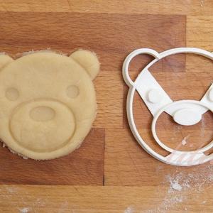 Mackó, mackófej, medve - Állatfej sütemény kiszúró, kekszforma, Otthon & Lakás, Sütikiszúró, Konyhafelszerelés, Állatos keksz kiszúró sorozatunk következő tagja: most aranyos állatfejeket formázó sütemény/keksz k..., Meska
