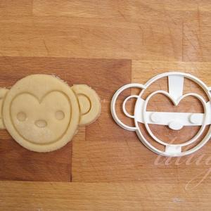 Majom süteménykiszúró, majomfej - Állatfej sütemény kiszúró, kekszforma, Konyhafelszerelés, Otthon & lakás, Gyerek & játék, Mindenmás, Mézeskalácssütés, Állatos keksz kiszúró sorozatunk következő tagja: most aranyos állatfejeket formázó sütemény/keksz k..., Meska