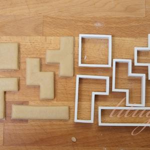 Tetris - 5 db sütemény kiszúró, keksz forma szettben, Otthon & Lakás, Sütikiszúró, Konyhafelszerelés, Tetris játékot idéző geometriai formákat tartalmazó sütemény kiszúró / szaggató, keksz forma szett. ..., Meska