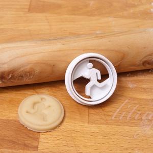Kicsi futó figura sütemény kiszúró forma, keksz forma, Otthon & Lakás, Sütikiszúró, Konyhafelszerelés, Kicsi futó figurát, pálcikaembert formázó sütemény kiszúró / szaggató, keksz forma.   Kb. 4,5 cm átm..., Meska