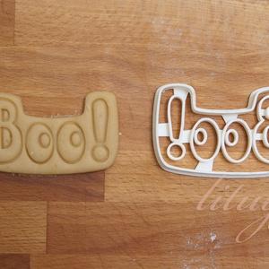 Halloween - Boo! sütemény linzer keksz kiszúró forma, Otthon & Lakás, Sütikiszúró, Konyhafelszerelés, Halloween alkalmából készítettük ezt a Boo! feliratot formázó sütemény linzer keksz kiszúró / szagga..., Meska