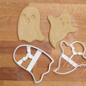 Szettben - Halloween süti, sütemény szellem, szellemek linzer keksz kiszúró forma, Otthon & lakás, Konyhafelszerelés, Gyerek & játék, Fotó, grafika, rajz, illusztráció, Mindenmás, A közelgő Halloween alkalmából készítettük ezeket a mókás sütemény linzer keksz kiszúró / szaggató f..., Meska