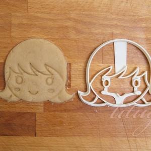 Kislány arc - sütemény keksz linzer marcipán fondant kiszúró forma, Konyhafelszerelés, Otthon & lakás, Gyerek & játék, Fotó, grafika, rajz, illusztráció, Mindenmás, Bájos kislány arcot formázó sütemény kiszúrót / szaggatót is készítettünk.\n\n11 cm x 8 cm (szé. x ma...., Meska