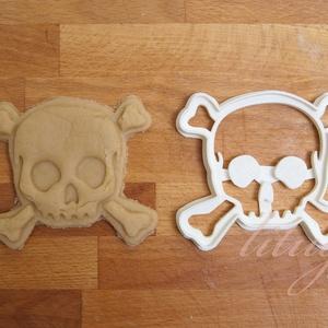 Koponya sütemény linzer keksz kiszúró forma - Halloween süti keksz, Sütikiszúró, Konyhafelszerelés, Otthon & Lakás, Fotó, grafika, rajz, illusztráció, Mindenmás, A közelgő Halloween alkalmából készítettük ezt a koponyát formázó sütemény linzer keksz kiszúró / sz..., Meska