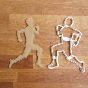 Futó férfi alak sütemény kiszúró forma, keksz forma, Otthon & Lakás, Sütikiszúró, Konyhafelszerelés, Futó férfi alakot formázó sütemény kiszúró / szaggató, keksz forma.  Kb. 12 cm magas x 8 cm széles  ..., Meska