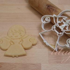 Angyal süteménykiszúró forma, angyalka mézes - mézeskalács forma (lituga) - Meska.hu