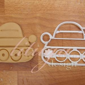 Tank sütemény kiszúró forma - Járművek, vonat, mozdony, Konyhafelszerelés, Otthon & lakás, Gyerek & játék, Fotó, grafika, rajz, illusztráció, Mindenmás, Járműves sorozatunk következő tagja: tankot formázó sütemény kiszúró / szaggató formát készítettünk,..., Meska