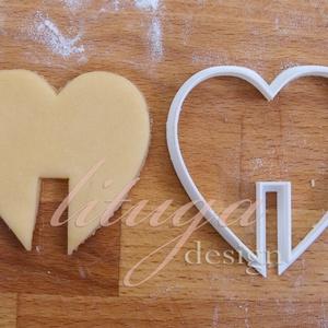 SZÍV Bögrére biggyeszthető - Szerelem, szeretet, egyedi esküvői sütemény kiszúró Valentin napra, Otthon & Lakás, Sütikiszúró, Konyhafelszerelés, Érzelmeidet fejezd ki sütikkel (is) ;-)  Bögrére akasztható szív alakú sütemény kiszúrót készítettün..., Meska