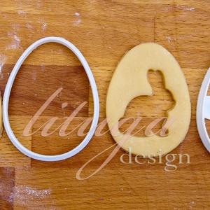 """Húsvéti süteménykiszúró forma  - Tojás alakban kivágott nyuszi, Otthon & Lakás, Sütikiszúró, Konyhafelszerelés, Húsvétra készült tojásformájú sütemény kiszúró / szaggató, mellyel a hagyományos """"ablakos"""" linzert a..., Meska"""