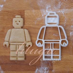 Lego figura sütemény kiszúró forma - lego kekszkiszúró, sütikiszúró, Otthon & Lakás, Konyhafelszerelés, Sütikiszúró, Lego figurát formázó sütemény kiszúró / szaggató forma. Gyermek szülinapi zsúrokra ideális, vagy csa..., Meska